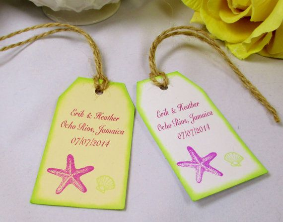 Gift Bag Tag/Beach Wedding Thank You Tag/Bridal Shower Tag/Gift Tag ...