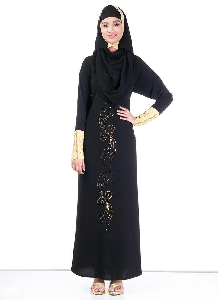 Beautiful Black #Polyester #Abaya