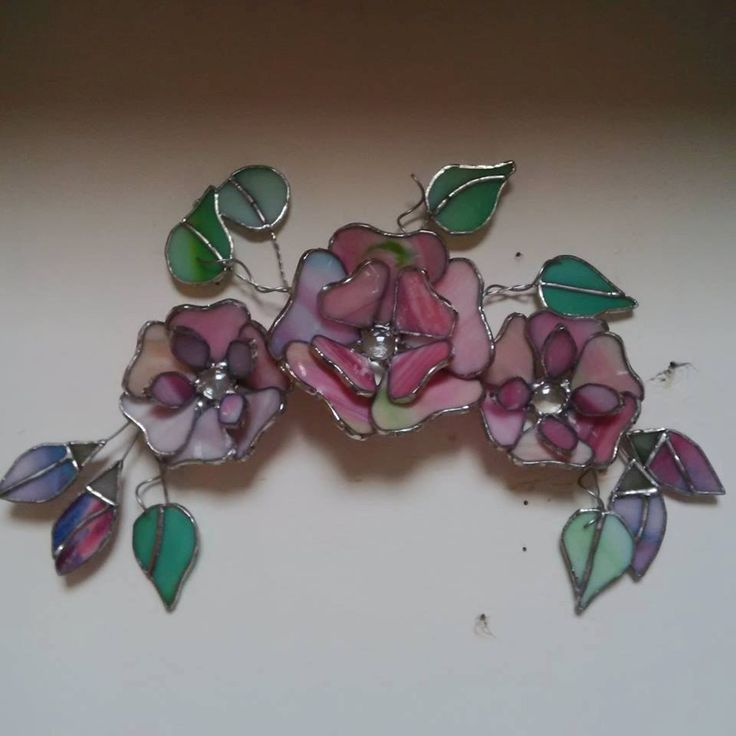3D Glass Floral Swag by InspiredGlassyGifts on Etsy
