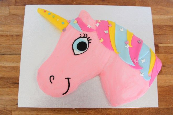 unicorn birthday cake 21