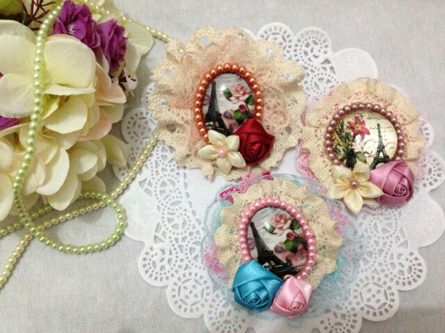 Handmade brooch made by me and my friends