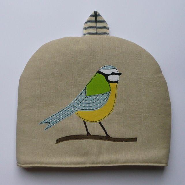 Tea Cosy - Blue Tit £30.00 #folksyfriday