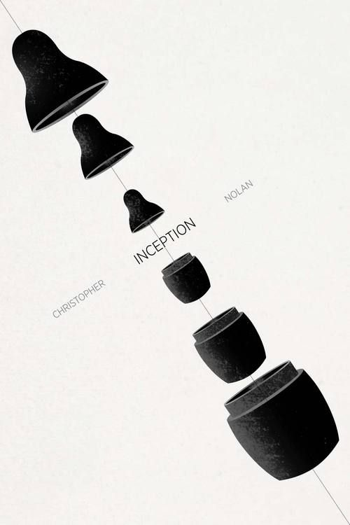 Minimalist posters: Inception by Ojasvi Mohanty