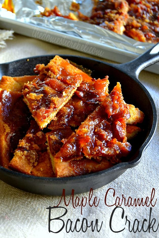 Maple Caramel Bacon Crack - this stuff is HIGHLY addictive and incredibly SIMPLE to make! Smoky, sweet, crispy and caramelized, you WILL want to make a double batch!
