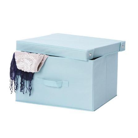Duck Egg Clothes Storage Box | Dunelm dimensions seem good not keen on colour though  sc 1 st  Pinterest & 25+ unique Clothes storage boxes ideas on Pinterest | Shelves for ... Aboutintivar.Com