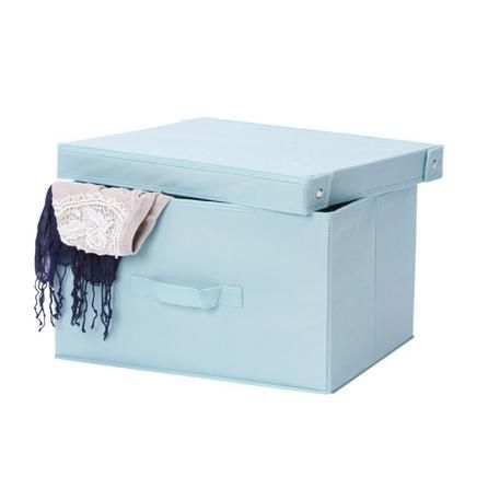 Duck Egg Clothes Storage Box | Dunelm dimensions seem good, not keen on colour though