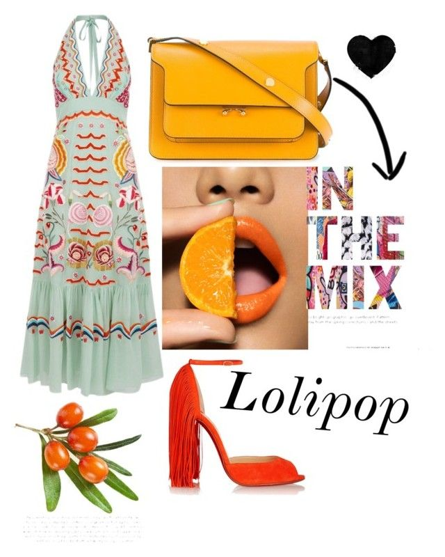 """vvv"" by veronika-grabanova on Polyvore featuring Temperley London, Christian Louboutin and Marni"