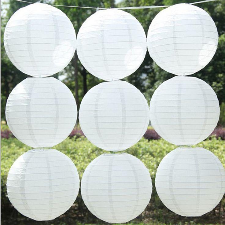 5 шт./лот Белые бумажные фонарики 15 см-40 см Круглые бумажные фонарики лампы festival свадьба украшения праздничные атрибуты фонарь