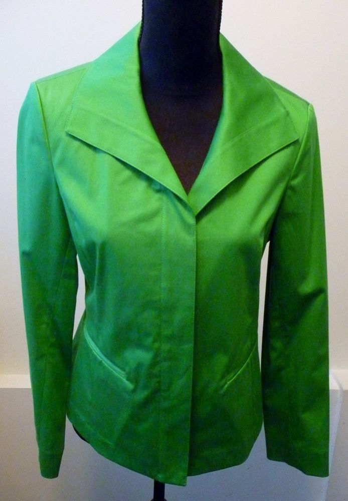 Lafayette 148 New York NWT Green Button Down Jacket Size 4  Neiman Marcus $398. #Lafayette148NewYork #BasicJacket #Any