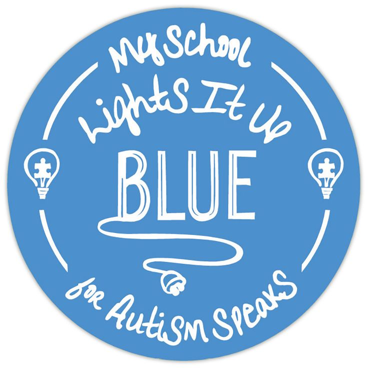 My School Lights It Up Blue - Roll of 100 Stickers LIUB stickers, autism awareness, Autism Speaks Light It Up Blue