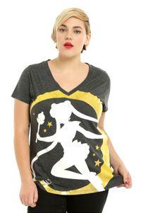 official sailor moon plus size t-shirt