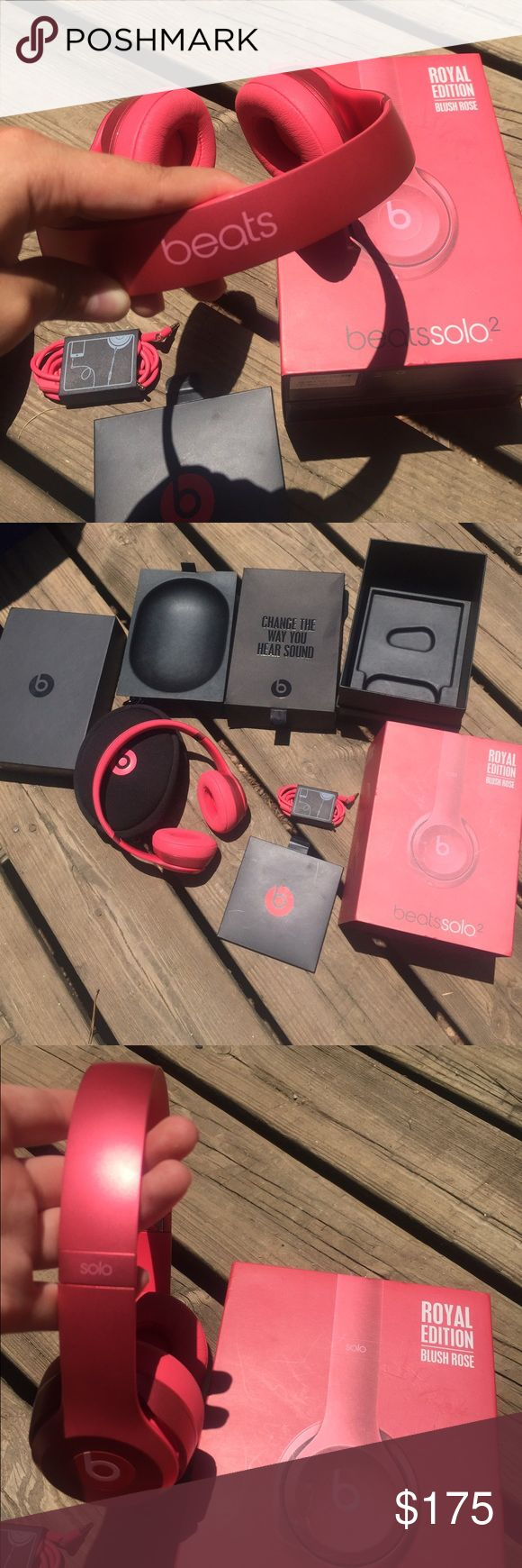 Beats Solo 2 Headphones by Dre Blush Rose color. No flaws & work perfectly, come with original box and manual. Case is a little dirty, but doesn't affect headphones. I'm selling them bc I just don't use them as much as I thought I would (bought them 5 months ago from Best Buy) BUNDLE TO SAVE Birkenstock Other