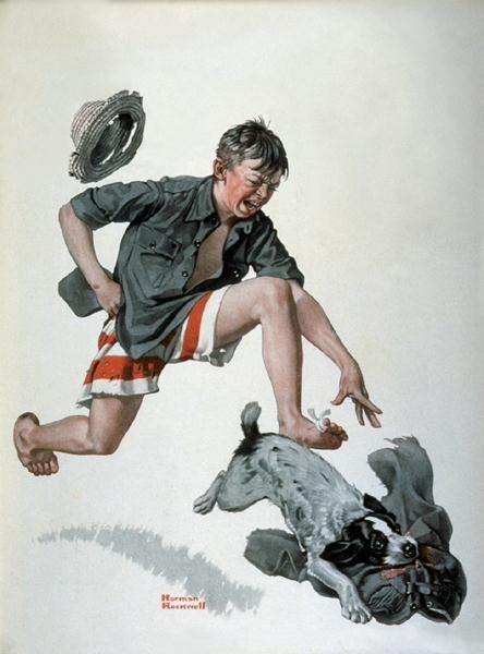 "Norman Rockwell ""Runaway Pants"" (1919)"
