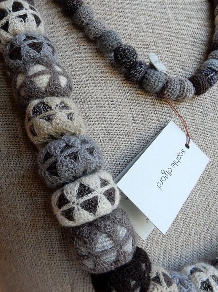 """""""C1"""" wool necklace   The French Needle   French Needlework Kits, Cross Stitch, Embroidery, Sophie Digard"""