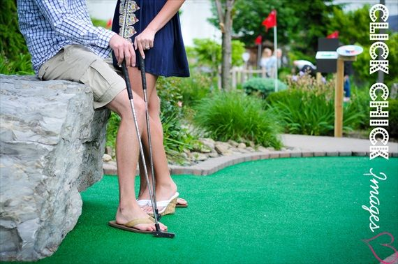 cheap date ideas: #10 mini golf. winner buys ice cream! (photo by click chick images)