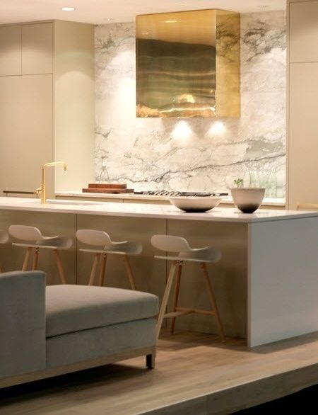 Make a statement...use natural stone! How about a slab of marble?