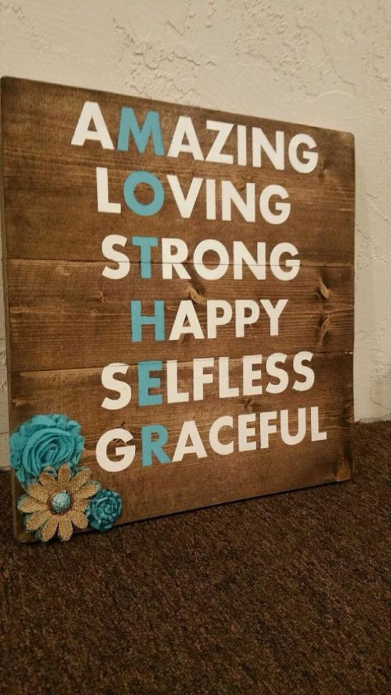 Mother's Day Wood Sign/ Mom Rustic Wood by TheSimpleSparrowDLB