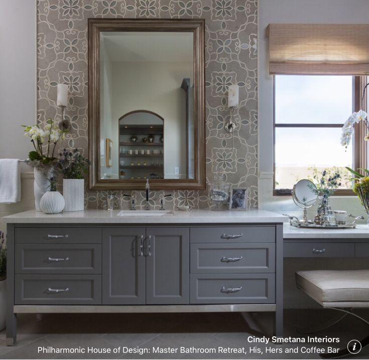 Great vanity with makeup area—window over makeup?
