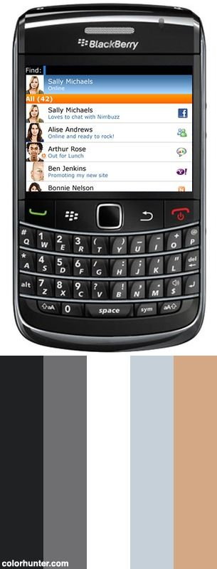 Nimbuzz For Blackberry Color Scheme