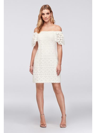 7a49f7e1ffa0 Short Sheath Off the Shoulder Cocktail and Party Dress - Robbie Bee