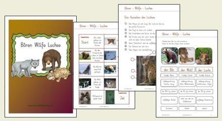 Wolf Luchs und Bär für die Unterstufe, 29 Seiten