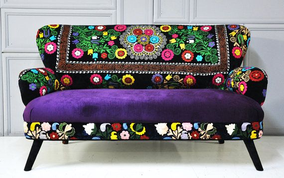 Patchwork sofa with suzani fabrics  2 by namedesignstudio on Etsy 2k