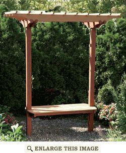 Garden Bench/Trellis  Woodworking Plan #IdeasWoodworkingHouse
