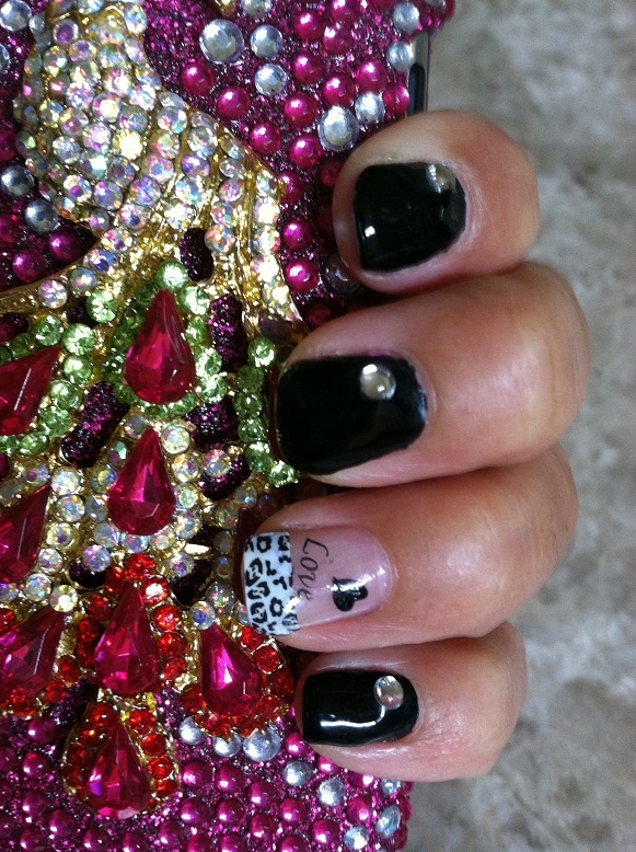 blanco y negro/ black and white con stamping art.