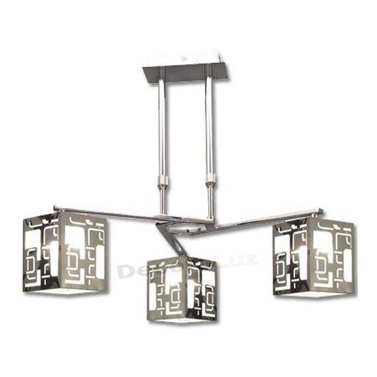 L mpara 3 brazos pantallas modernas color negro blanco - Ver lamparas de techo modernas ...