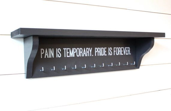 Trophy Shelf and Medal Holder Display Customizable You Can Pick the Saying