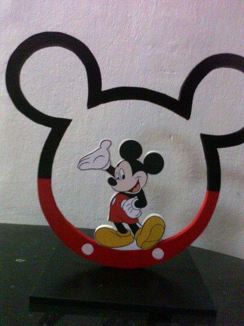 """Centro de mesa para fiesta infantil """"mickey"""" elaborado en mdf o ..."""