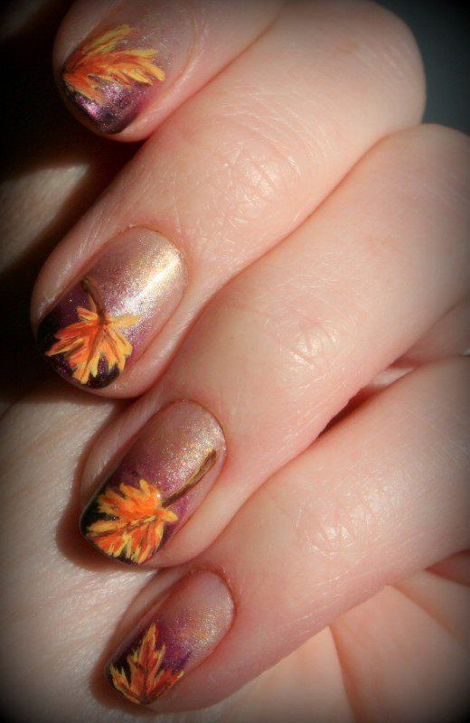 20 Fantastic Nail Designs for Thanksgiving | Pinterest | Fall nail ...