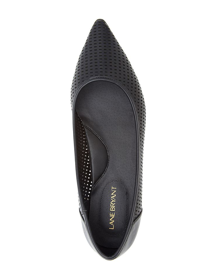 Wide width perforated flats - Cute Wide Shoes