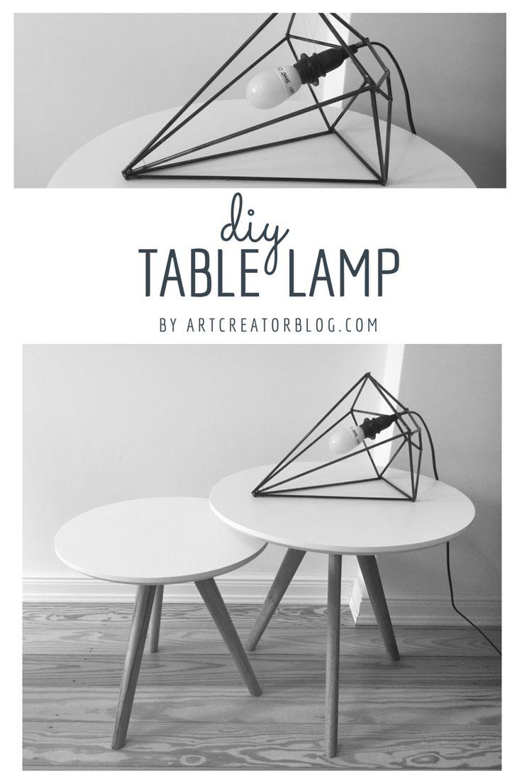 Tischlampe gezeichnet  16 besten DIY Tischlampe / Table lamp Bilder auf Pinterest ...