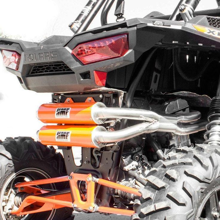 HMF-SIDE BY SIDE EXHAUST ORANGE PERFORMANCE DUAL SYSTEM/RZR 900 S and 1000 S