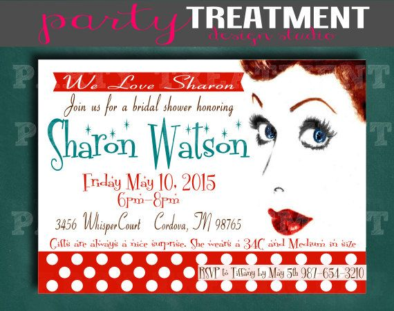 I Love Lucy Retro Bridal Shower Invitation Party Treatment Design Studio. by PartyTreatment, $10.00