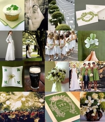 so unique st patrick's day wedding!