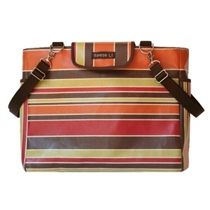 Designer Earth Stripe Diaper Bag - http://www.gotobaby.com/ - Have a look at the designer earth stripe diaper bags and buy one that suits your personality and style.
