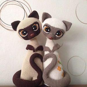 Siamkatzen Max und Mixi crochet Anleitung PDF | eBay