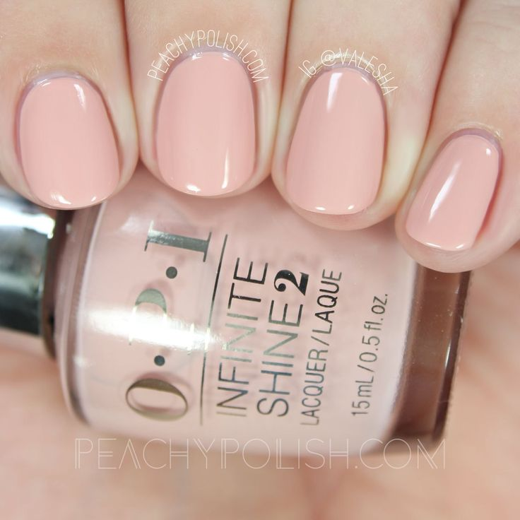 OPI Half Past Nude | Spring 2016 Infinite Shine Collection | Peachy Polish