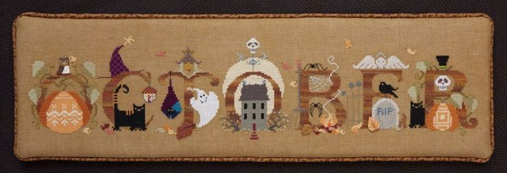 October by The Cricket Collection #crosstitch #crafts