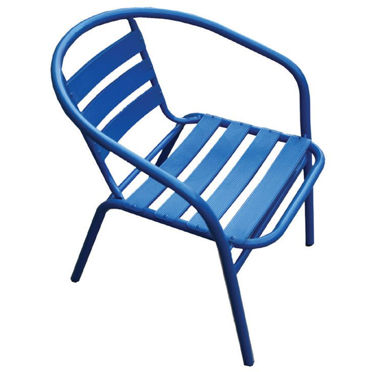 Funky garden armchair steel-aluminum blue Ε242,2