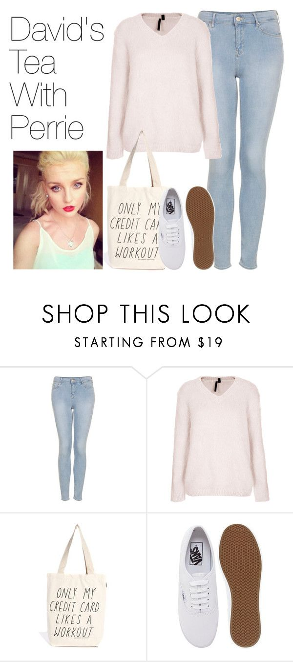 """""""David's Tea With Perrie"""" by onedirectionimagineoutfits99 ❤ liked on Polyvore featuring Topshop, Boutique, Talented Totes and Vans"""