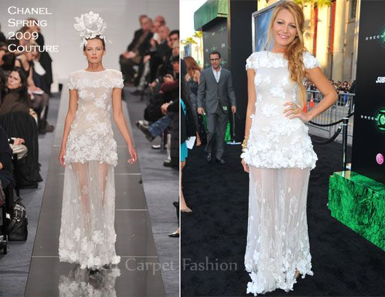 "Blake Lively In Chanel Couture – ""Green Lantern"" LA Premiere"