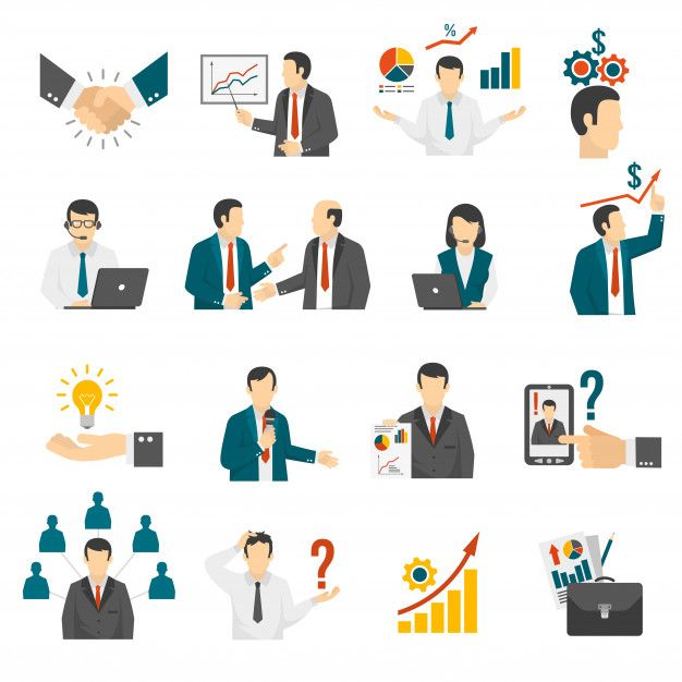 Download Business Training Consulting Service Icons Set ...