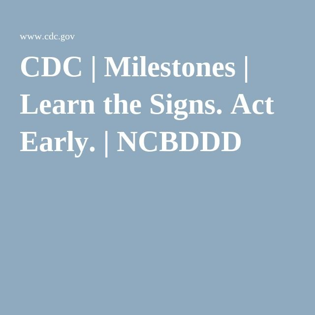 Learn the Signs. Act Early. - North Central Early Steps