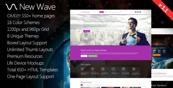 New Wave - 8 in 1 Massive Multipurpose Template - Creative Site Templates