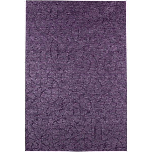 Rizzy Home Uptown Collection Handmade Solid Wool Purple Rug 8 X
