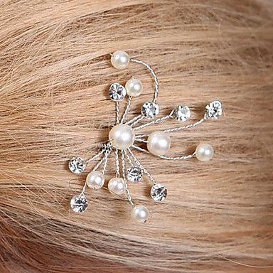 Mooie Parel en Crystal bruiloft / feest Haarspelden / helm (1 delig) – EUR € 13.63
