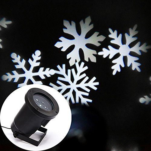 LMID Waterproof White Snowflakes Lamp Light Sparkling Landscape Projector for Outdoor Decor Spotlights Stage Irradiation Christmas Holiday Home Decoration Wall Motion Decoration >>> More info could be found at the image url.